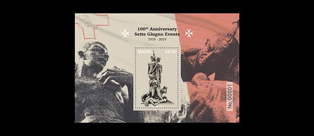 马耳他6月6日发行Sette Giugno事件100周年小型张